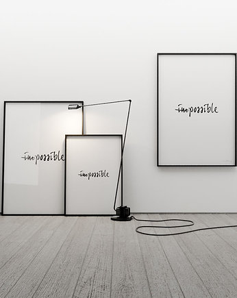 IMPOSSIBLE... - grafika 70x50, MINIMALLIVING