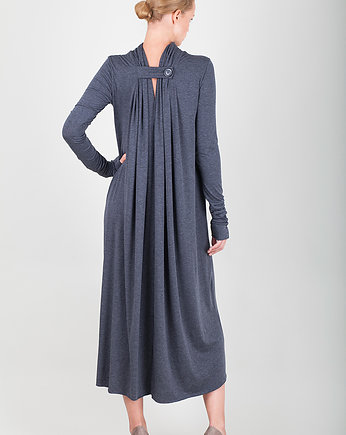 one button long dress, pudu