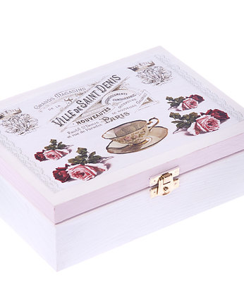 Herbatnica Tea Time, decoupage - herbatnice