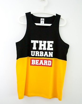Tank Top Black&Yellow, moda - t-shirty - męskie