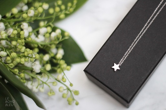 naszyjniki - inne-Rhodium Plated Matt Star Necklace