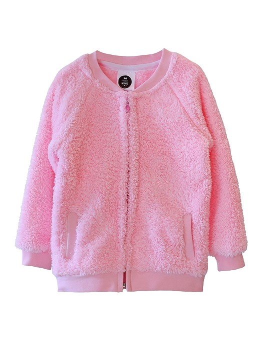 bluza bear zip pink - 1658704